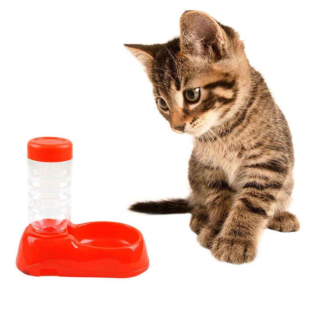 Automatic Water Feeder Dispenser Food Dish Bowl For Pets