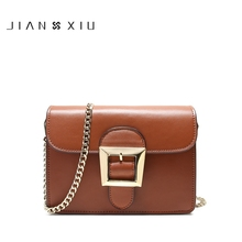 JIANXIU 2017 Retro women vintage Genuine Leather Messenger Bag Real Cowskin Ladies Shoulder Bag Small Chain Bag Female Brand bag