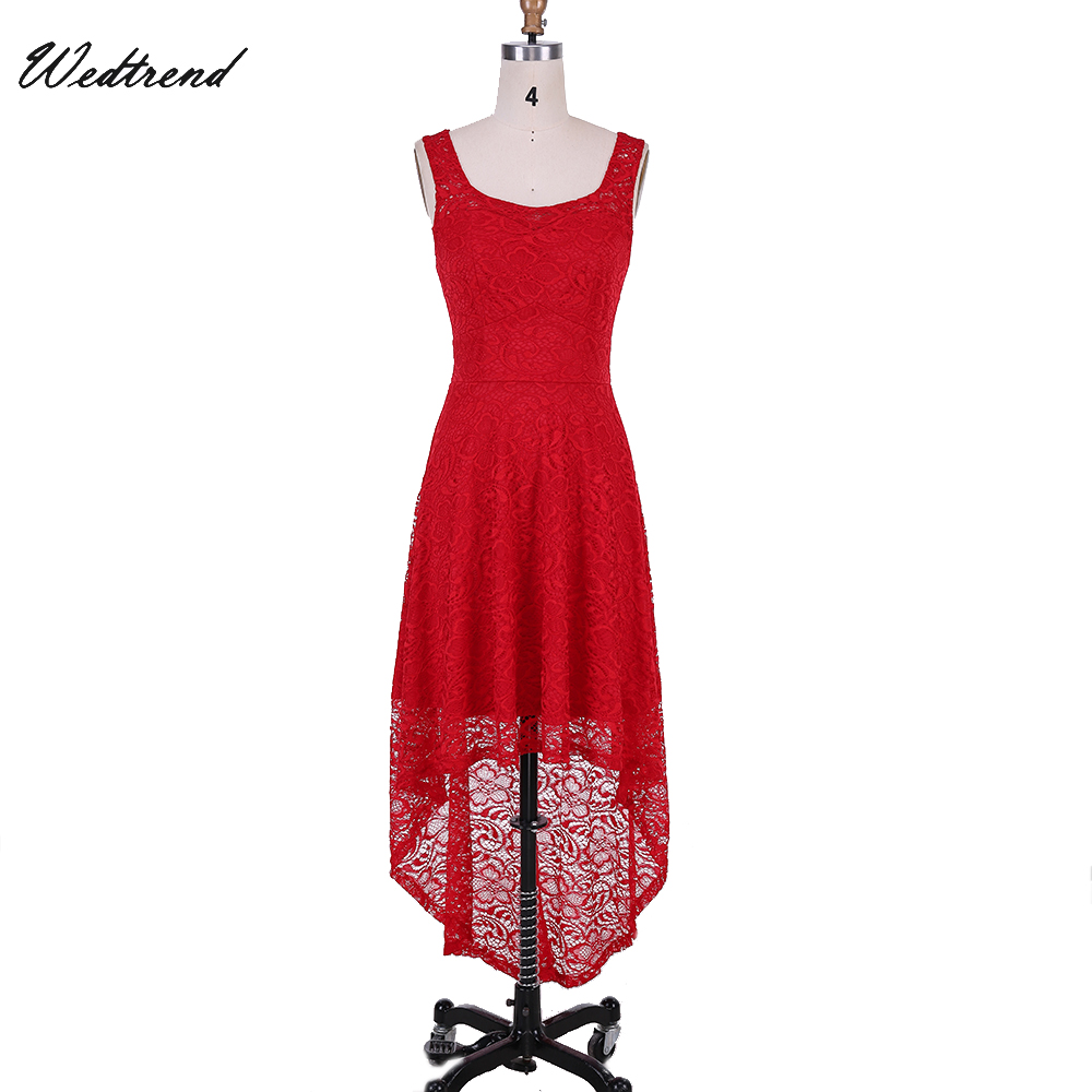 Weddings & Events Wedtrend Rot Vordere Kurze Lange Zurück Homecoming Kleid Neue Ankunft Spitze Formale Kleid Kleider Vestidos Cortos Starke Verpackung
