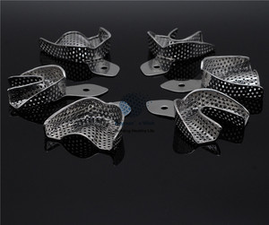 Image 3 - 歯科ラボ 6 ピース/セット印象トレー義歯楽器ステンレス鋼の印象トレイ