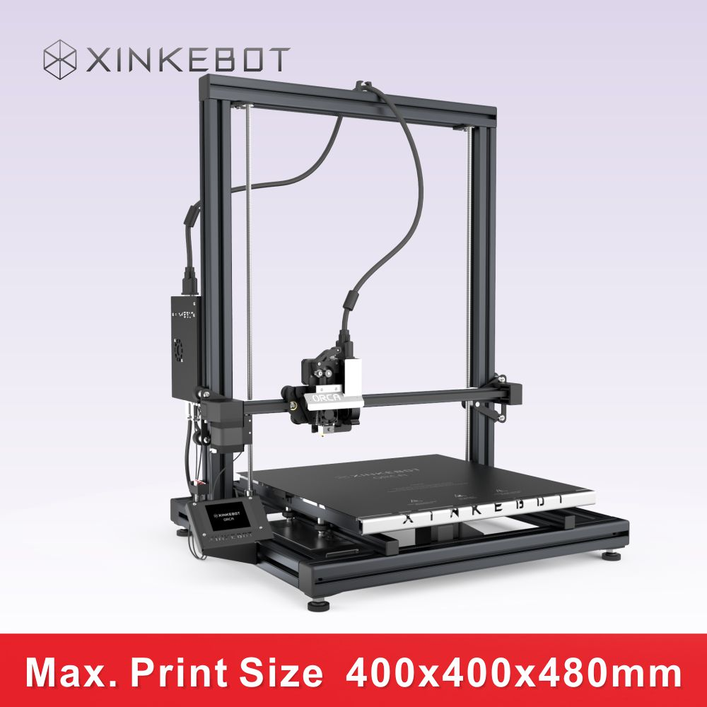 Metal FDM 3D Printer with LED Screen Printing Size 400 400 480mm Xinkebot ORCA2 Cygnus