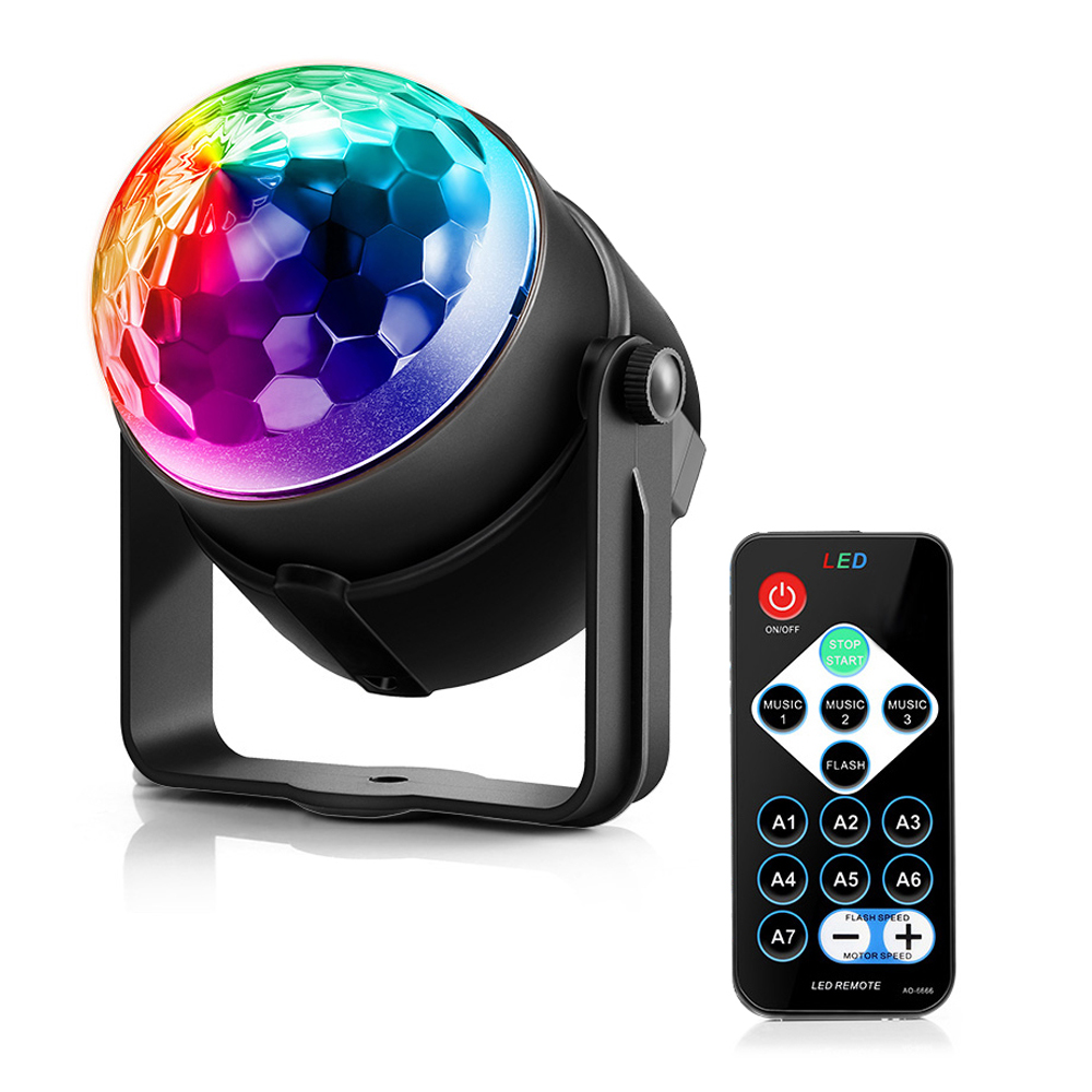 LightMe Holiday Light 3 Control Modes RGB LED Party Effect Disco Ball Light Stage Lighting Professional