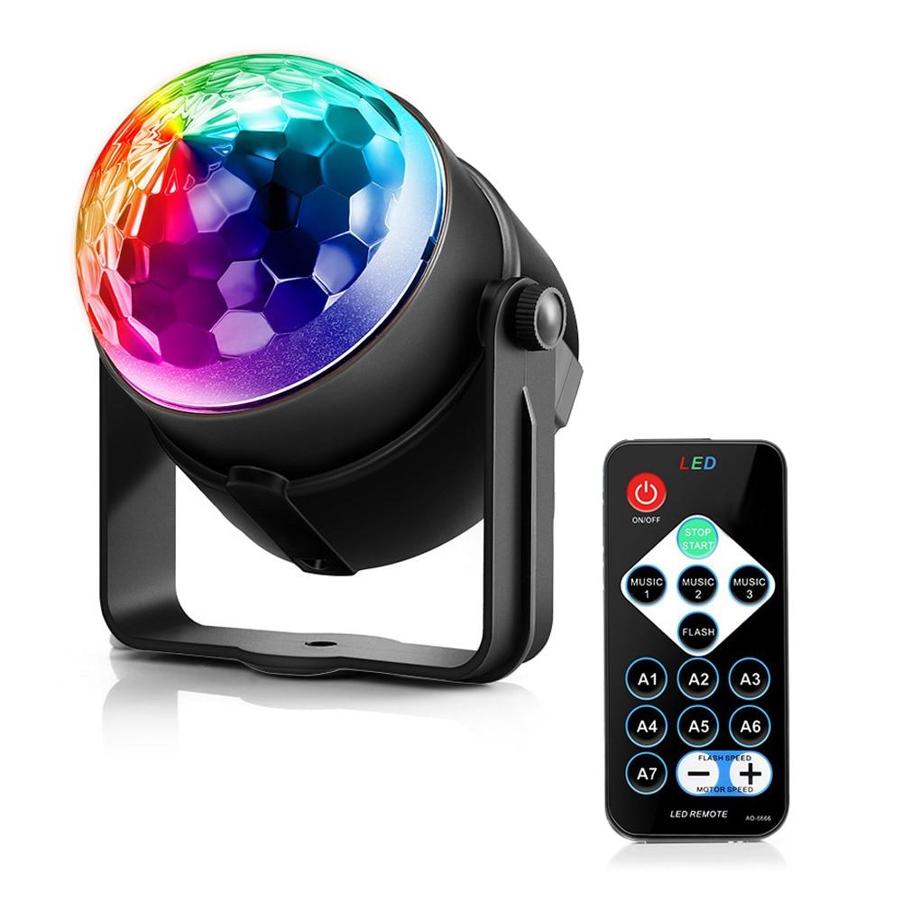 Luz de vacaciones LightMe 3 modos de Control RGB LED efecto de fiesta Bola de discoteca iluminación de escenario profesional lámpara de boda de Navidad