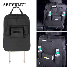 hot deal buy 1pc seeyule top grade car seat back organizer buggy felt cloth bag stowing tidying storage for food drink phone map pad