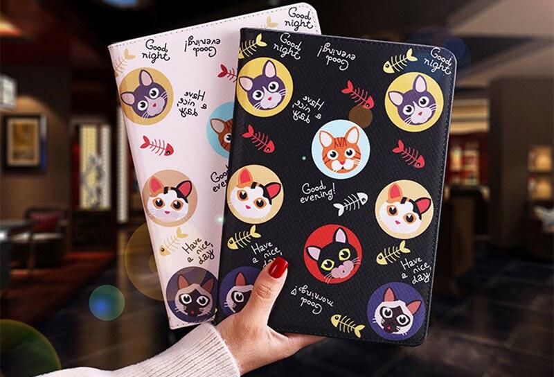 Cute Animal Pattern PU Cover For Ipad Mini 4 Case Smart Stand Cover For Ipad Mini 1 2 3 Case