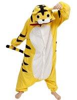 2017 New Baby Boys Girls Pajamas Autumn Winter Children Flannel Animal Funny Animal Yellow Tiger Pajamas