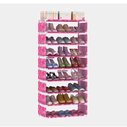 8 слоев обуви стойки органайзеры толстые нетканые ткань пыле DIY хранения Полка Шкаф высокое качество PP трубка