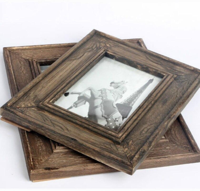 6, 7 pulgadas retro hacer el viejo marco de madera columpio escritorio creativo decoración del hogar mesita de noche marco de fotos/decoración de la pared del hogar