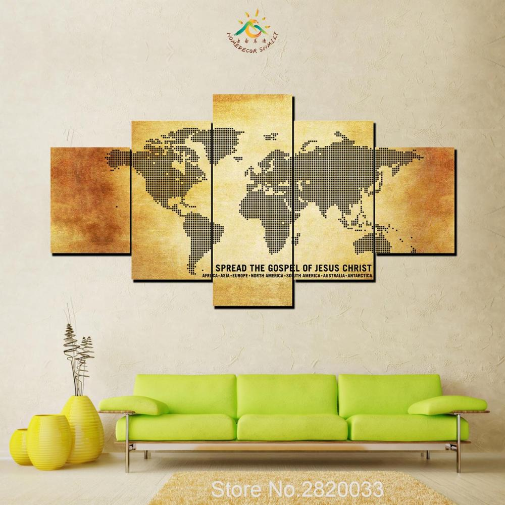 5 Pieces Spread the Gospel of Jesus Christ Modern Wall Art Pictures ...