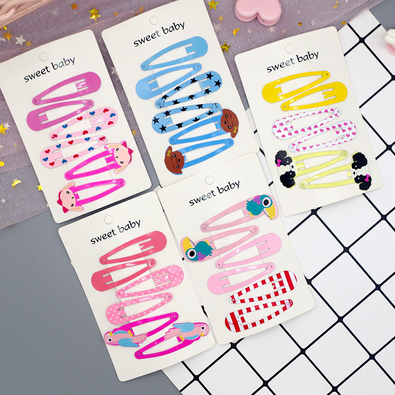 Buy Cheer Bows 6PCS/set Hair Accessories Baby Cartoon Metal Hairpins Candy Color INS Style BB Hair Clip Girl Kids Snap Barrettes for only 1.68 USD