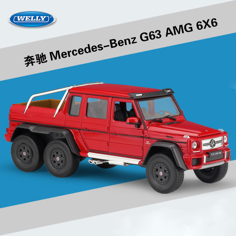 WELLY 1 24 High Simulation Model Toy Car Metal Benz G63 AMG 6X6 Alloy Diecast Vehicles