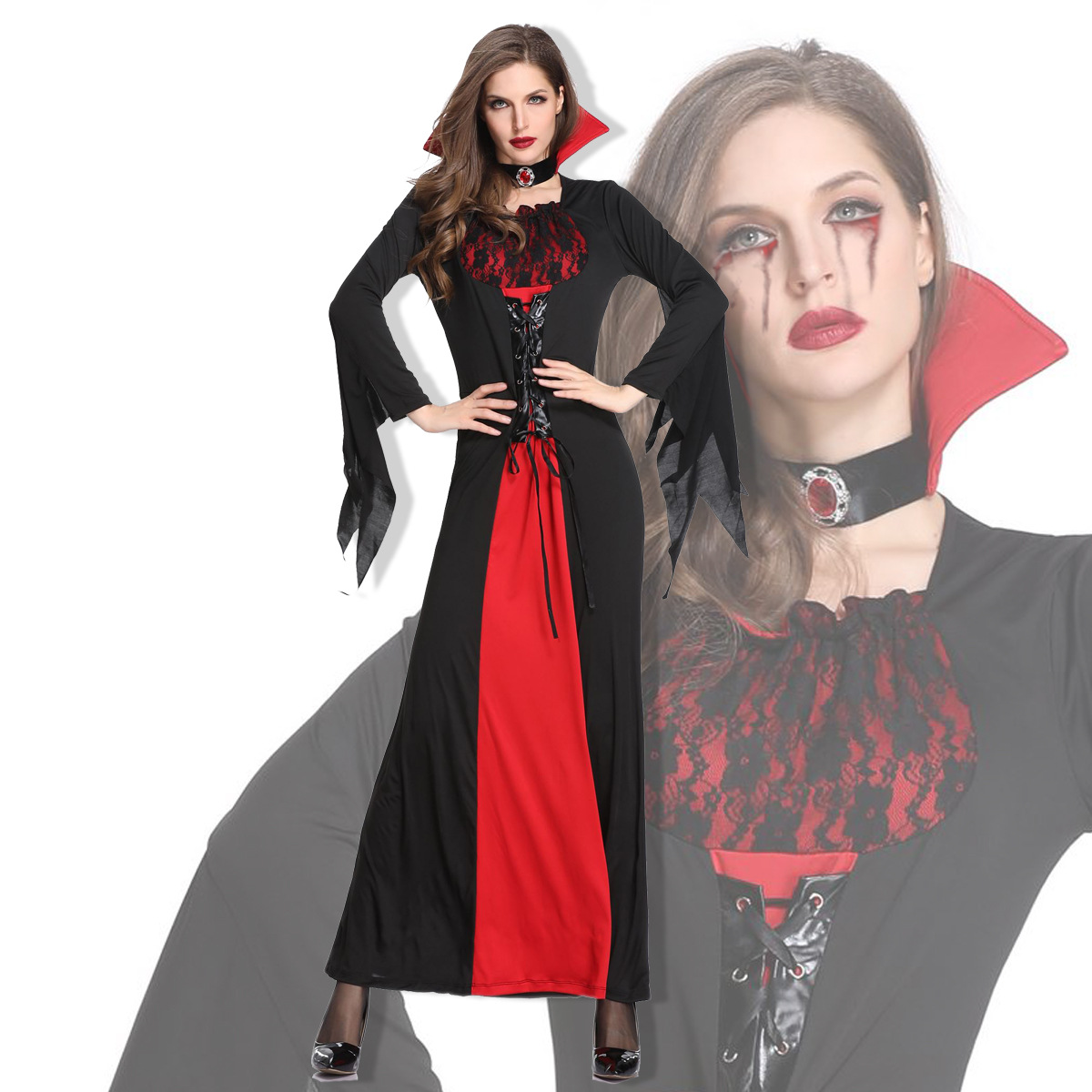 Halloween Dress Queen Vampire Costume Easter Adult Female Devil Cosplay