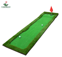 FUNGREEN Indoor Golf Putting Green 2 Color and 4 Color Golf Simulated Green Imported Grass 75*300CM Golf Putting Mat Outdoor