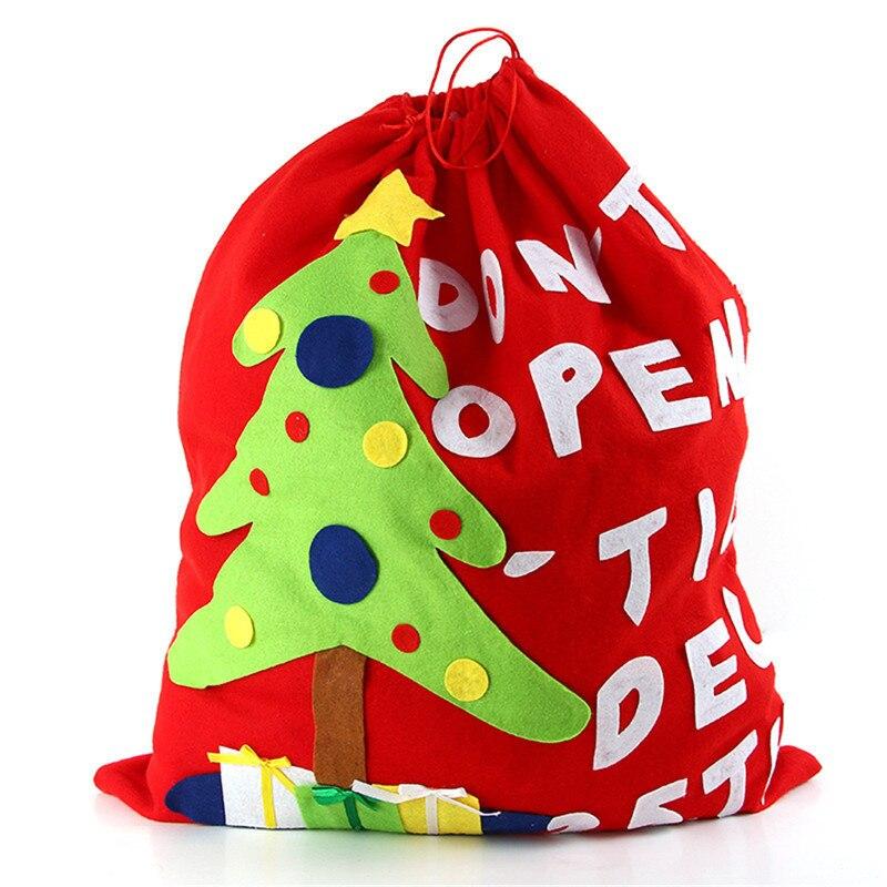 Рождественский подарок ранец Сумки огромный шнурком мешок конфет высокого класса Рождество дерево классический большой Размеры Детский Р...