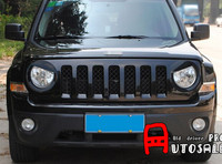 ABS Plastic Black Angry Eye Front Headlight Lamp Cover Trim 2pcs For JEEP Patriot 2011 2012