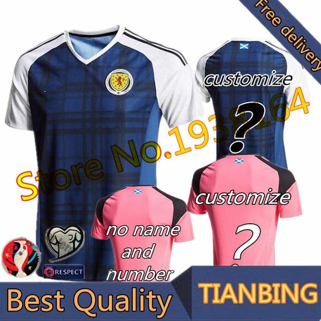 b3674e8faaa Scotland national football team home away soccer Jersey 2016 2017 Best  THAILAND Quality Scotland shirt