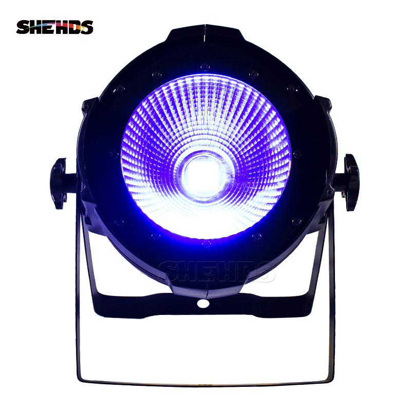 LED Par COB 200W Only Violet Strobe Stage Light DMX Controller Mobile Production Churches Professional Stage & Dj SHEHDS led par cob 200w only violet strobe stage light high power dmx512 light aluminium case stage lighting dj equipment
