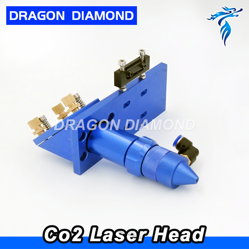 CO2 Laser Head Dia 25mm Mirror Focus lens 63.5mm 101.6mm Integrative Mount Holder for Laser Engraving Cutting Machine economic al case of 1064nm fiber laser machine parts for laser machine beam combiner mirror mount light path system