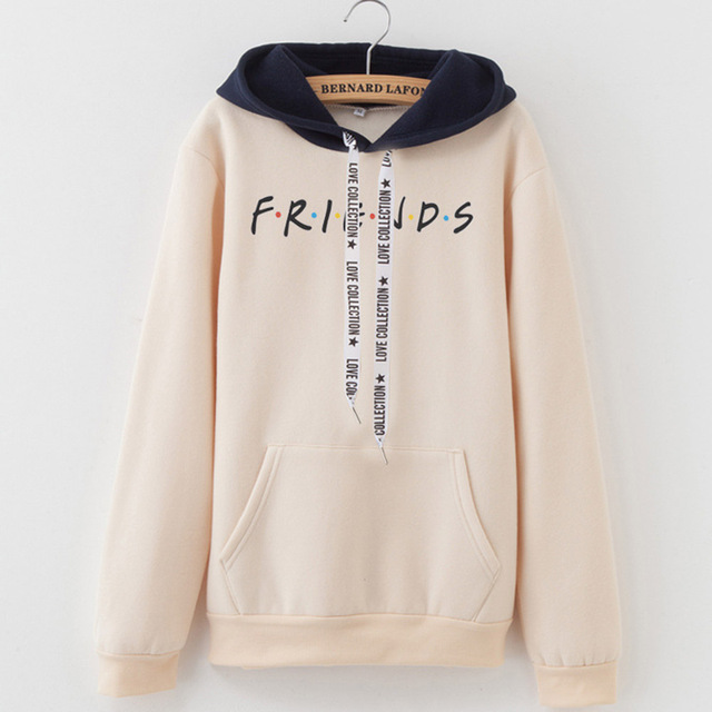 2019 New Friends Printing Hoodies Sweatshirts Harajuku Crew Neck Sweats Women Clothing Feminina Loose Women's Outwear Fall B0314 3
