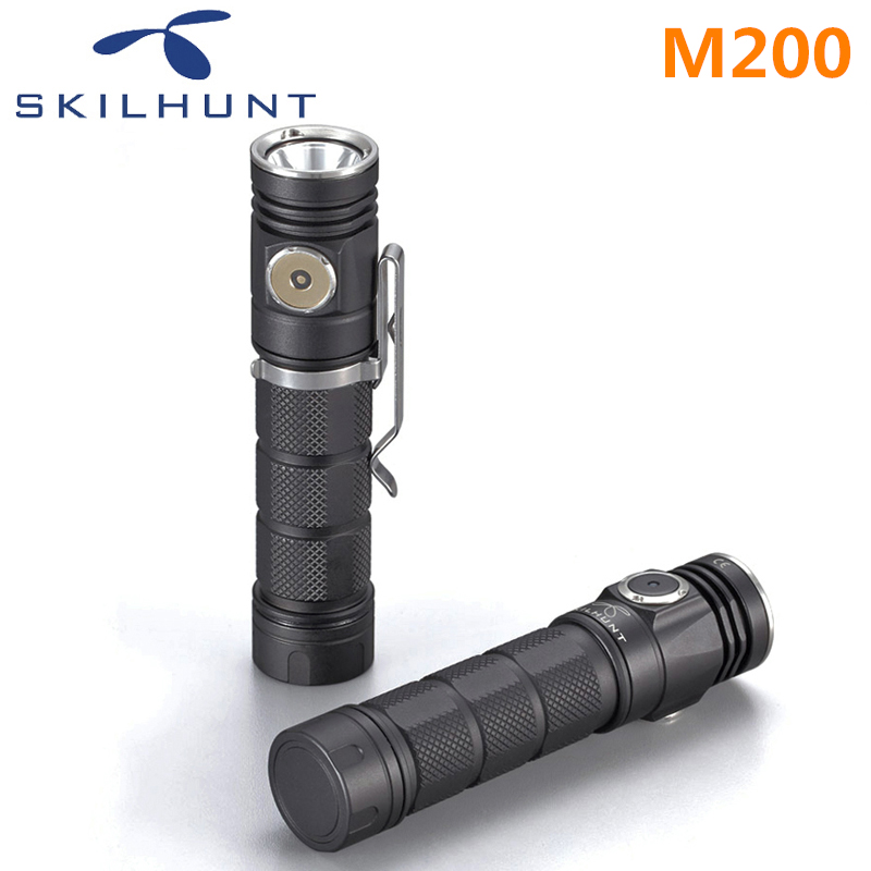 2018 new Skilhunt M200 CREE XP-L LED 1050 Lumens USB magnetic charging flashlight