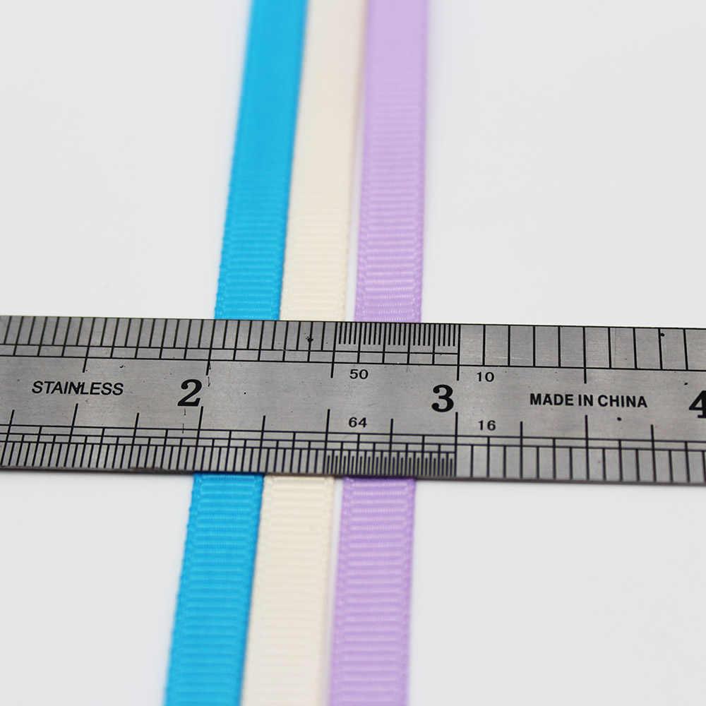 グログランリボン 1/4 インチ 6 ミリメートル手作り DIY 帽子アクセサリー結婚式の装飾ラップギフト