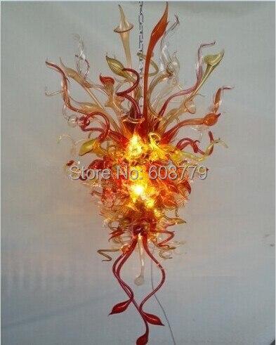 Free Shipping Spendid Indoor Lighting Hand Blown Glass Chandelier in Chandeliers from Lights Lighting