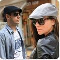 Распродажа высокое качество Весной и летом случайные крышка сплошной цвет обычный мужской женский старинные вс hat берет cap звезда черная шляпа