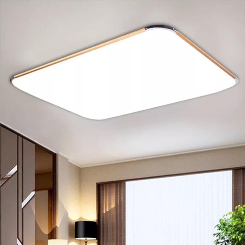Ultra-fina luz de teto CONDUZIDA CONDUZIU a iluminação da luz de teto lâmpada moderna sala de estar quarto cozinha superfície de montagem de controle remoto