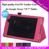 """For Google Nexus 7 ii lychee pattern PU leather Stand cover,nexus 7 II 7"""" Lychee business case protector"""