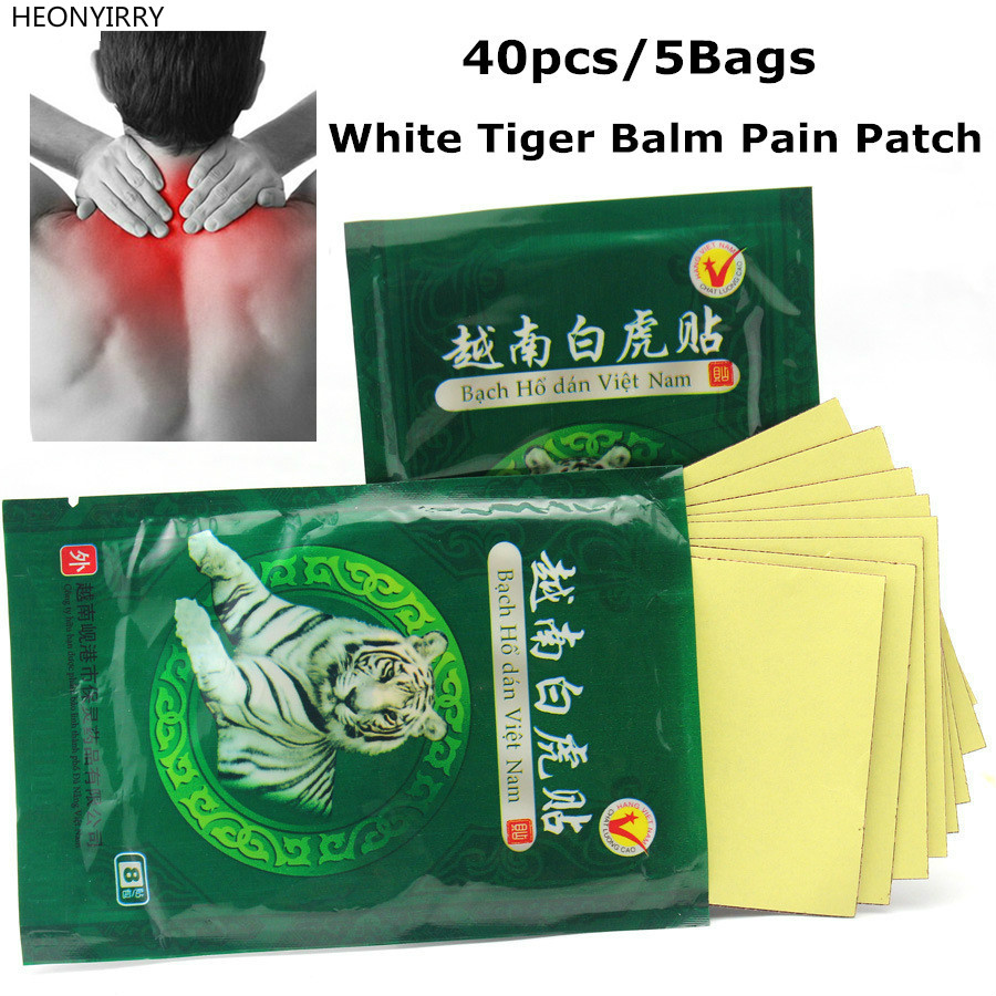 40pcs White Tiger Balm Medicated Plasters Foot Patch Tens