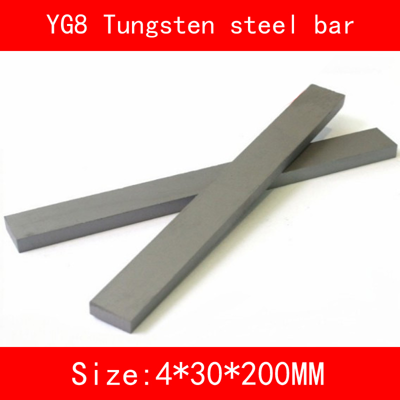 YG8 Tungsten steel bar Turning Tool 6-40MM*4MM*200MM High hardness high-temperature resistance 1000 degree cutter Tool size 200 200 5mm teflon plate resistance high temperature work in degree celsius between 200 to 260 ptfe sheet