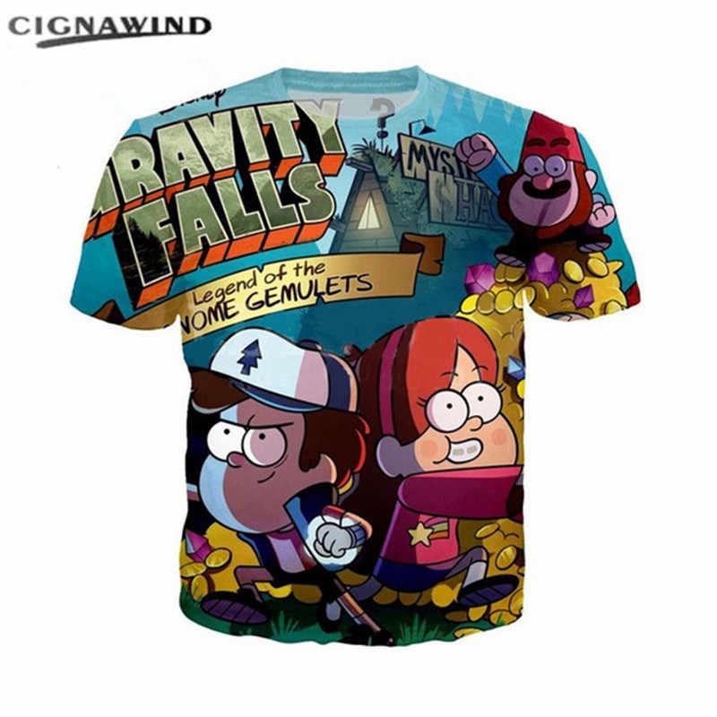 Новый Забавный мультфильм Гравити Фолз футболки с 3D-принтом для мужчин для женщин  летние 5af7510925c38