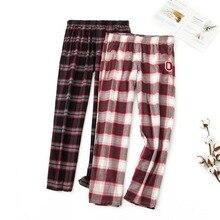 Мужские и женские хлопковые клетчатые домашние штаны размера плюс домашние пижамные штаны одежда для сна для женщин s низ женская одежда