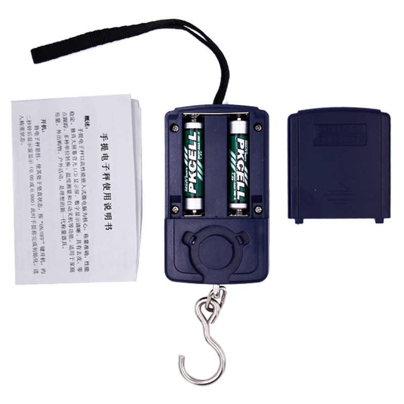 40kg 10g balance numérique électronique Portable numérique poids poisson crochet bagages suspendus échelles 25% de réduction
