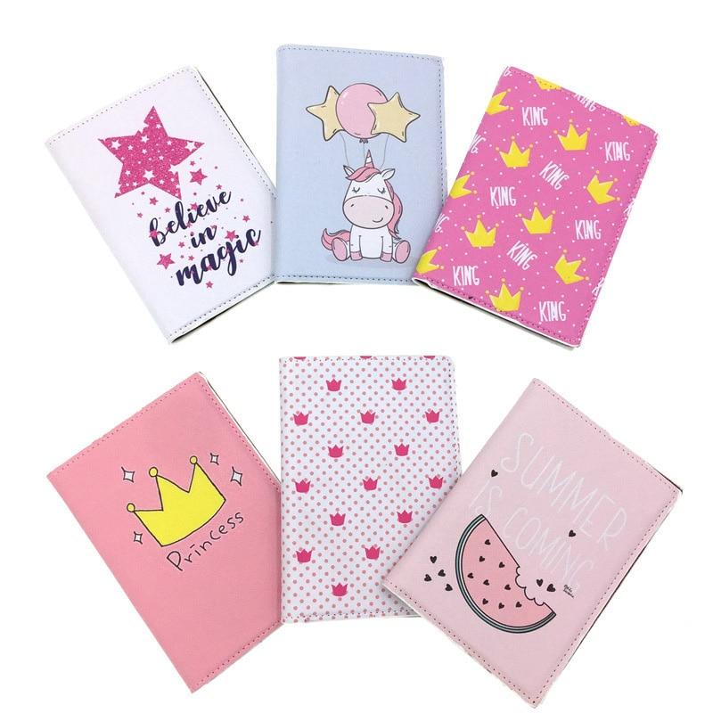 Fashion PU Leather Crown Stars Passport Case Business Card Holder Men Women Passport Bag ID Passport Cover Card PASSPORT Wallet