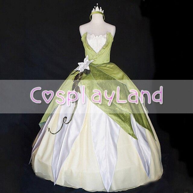 Princess Tiana Costume Green Ballgown Dress Custom Made Costume With ...