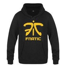 Erkek Hoodie oyunları Fnatic takım logosu Hoodies erkekler polar uzun kollu Skate kazak Hip Hop kazak Moleton Masculino marka sıcak