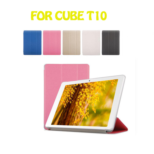 Free Shipping!10.1 inch Cube t10plus t12 Customised PU Leather Case t10 plus Protective Cover for CubeT10  tablet PC case