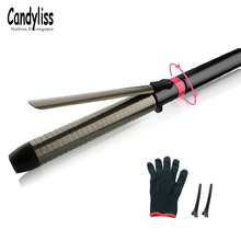 2018 Professional Salon Ceramic coating Curling Irons Hair Wand curler hair curling hair curler 360degree Rotating styling tools steam hair curler curling iron wand tourmaline ceramic spray curling irons styler salon styling tools for long and short hair