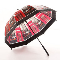 Thick long handle transparent umbrella Appollo straight shank color children umbrella creative automatic straight rod umbrella P