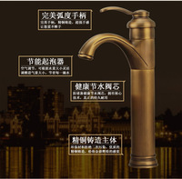 Free shipping single handle single hole antique bathroom mixer tap from chinese sanitary ware company basin faucet