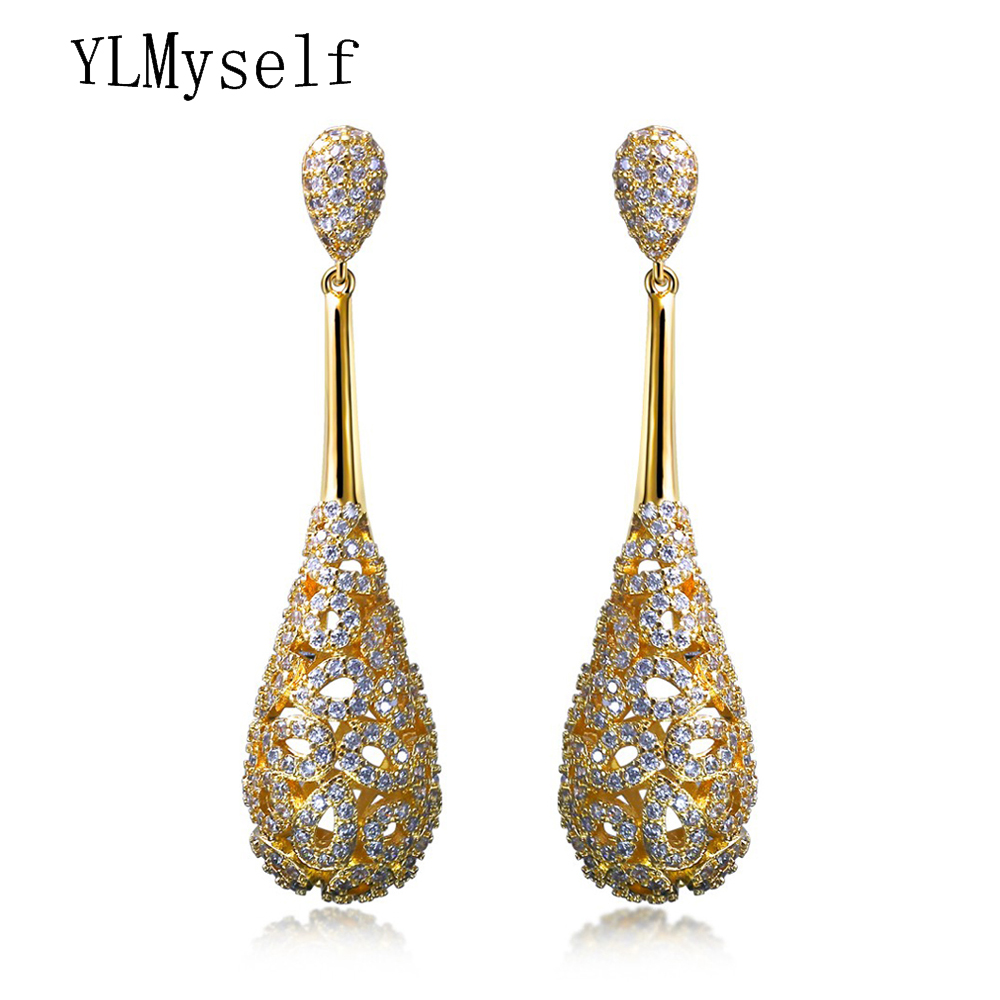 6a009d0dc926 New Women s Earrings Bridal wedding jewelry High Quality Hollow designer  Fashion accessories aretes CZ dangle Earring