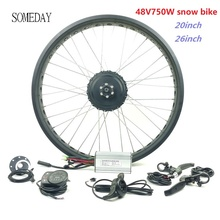 EINES TAGES EBIKE 48V 750W fett reifen mit LED900S display elektrische fahrrad schnee bike hinten kassette hub motor 20 zoll 26 zoll