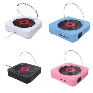 Image 2 - Leitor de dvd suporte de parede portátil bluetooth casa áudio boombox bluetooth cd/dvd tudo em um leitor rádio fm de controle remoto sem fio