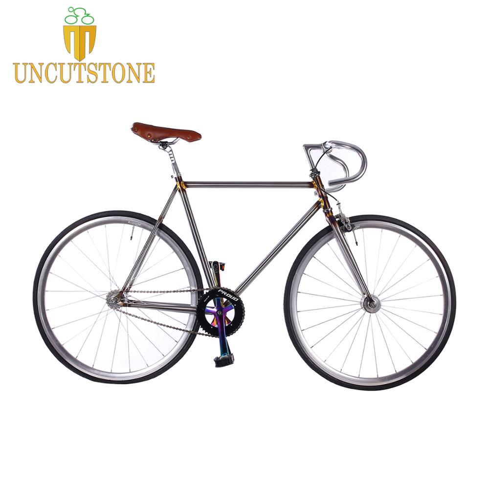 Fixed Gear Bike Copper Plated Frame 700C  Track  Single Speed Bike 48cm 50cm  52cm 56cm 58cm 60cm Fixie Bike Vintage DIY Frame