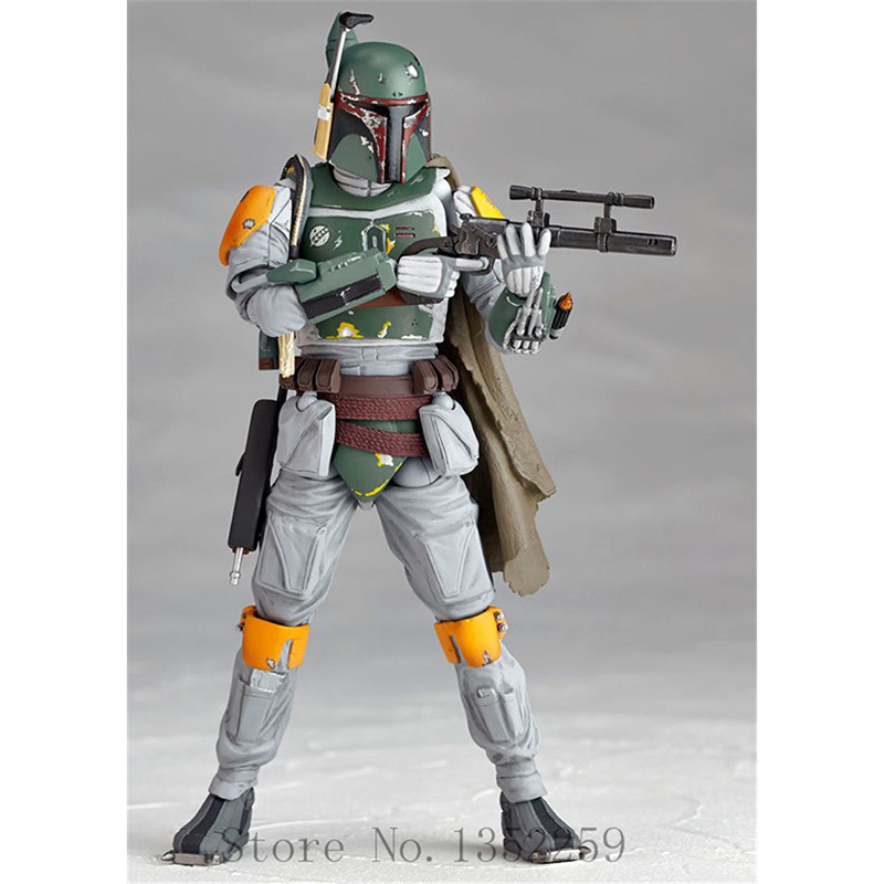 Action figure toys Stormtrooper Collectable Model Revoltech The Bounty Hunter Boba Fett action Model PVC toys 16cm N016 new latest design cool boba fett figure model home decoration of the desktop decoration