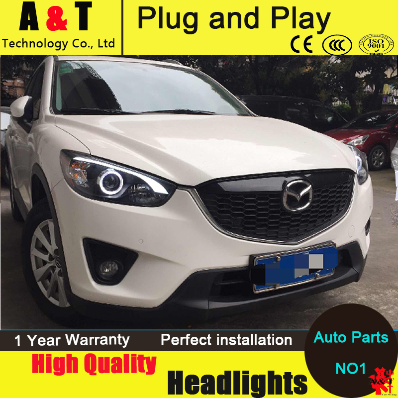 Car Styling For MAZDA CX-5 headlights 2011-2014 CX5 led headlight new cx-5 led drl projector headlight H7 hid Bi-Xenon Lens automobile 1 p stalls sequins decorative stickers car accessoires for mazda cx 5