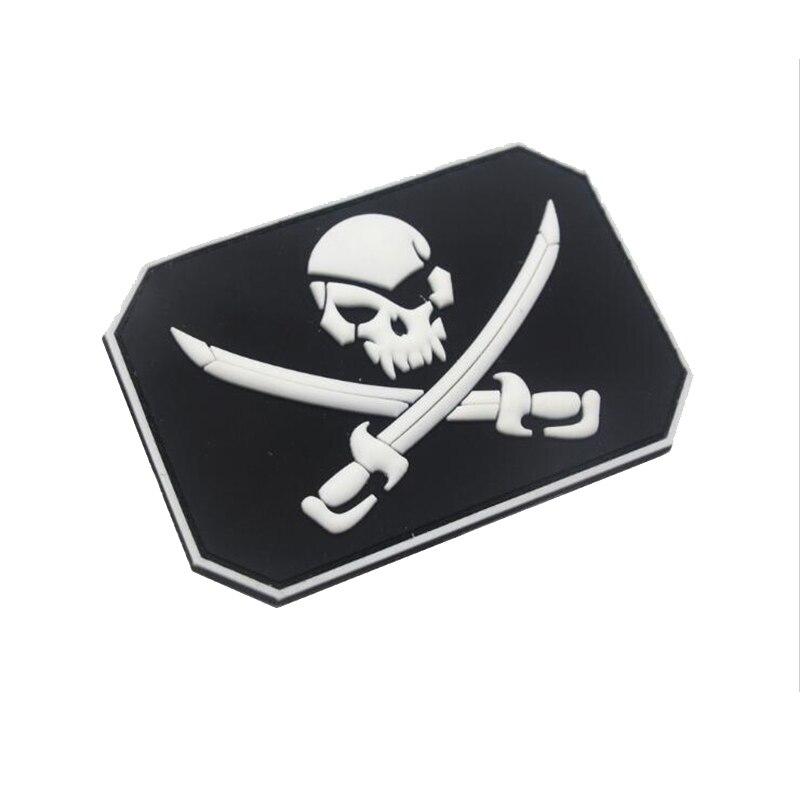 Crânio do pirata pvc braçadeira militar tático polícia especial moral emblema jaqueta mochila jeans esportes ao ar livre decoração remendo 2