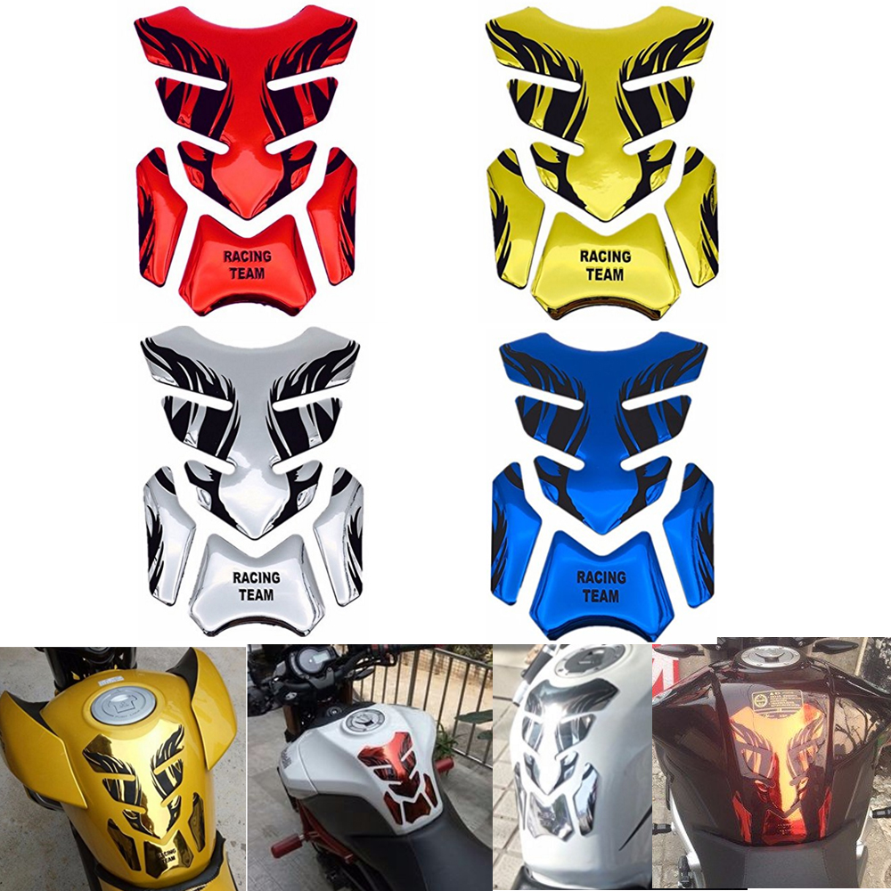 Silver Red Gold 3D Motorcycle Fuel Oil Tank Pad Decal Protector Cover Sticker Universal For Honda Yamaha MT R1 Kawasaki Suzuki