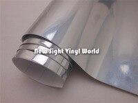 Глянцевая Серебряная хромированная Виниловая пленка для автомобильных наклеек воздушный пузырь свободный размер: 1,52*30 м/рулон